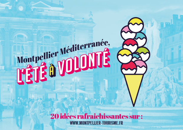 Affiche Montpellier, l'été à volonté