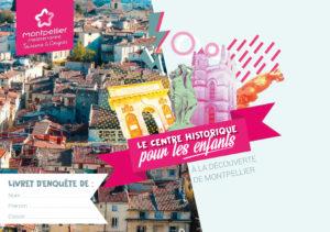 Couverture du nouveau livret jeu de piste enfant Montpellier