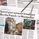 Montpellier dans la presse internationale, ici avec la journaliste anglaise Alisson Phillips