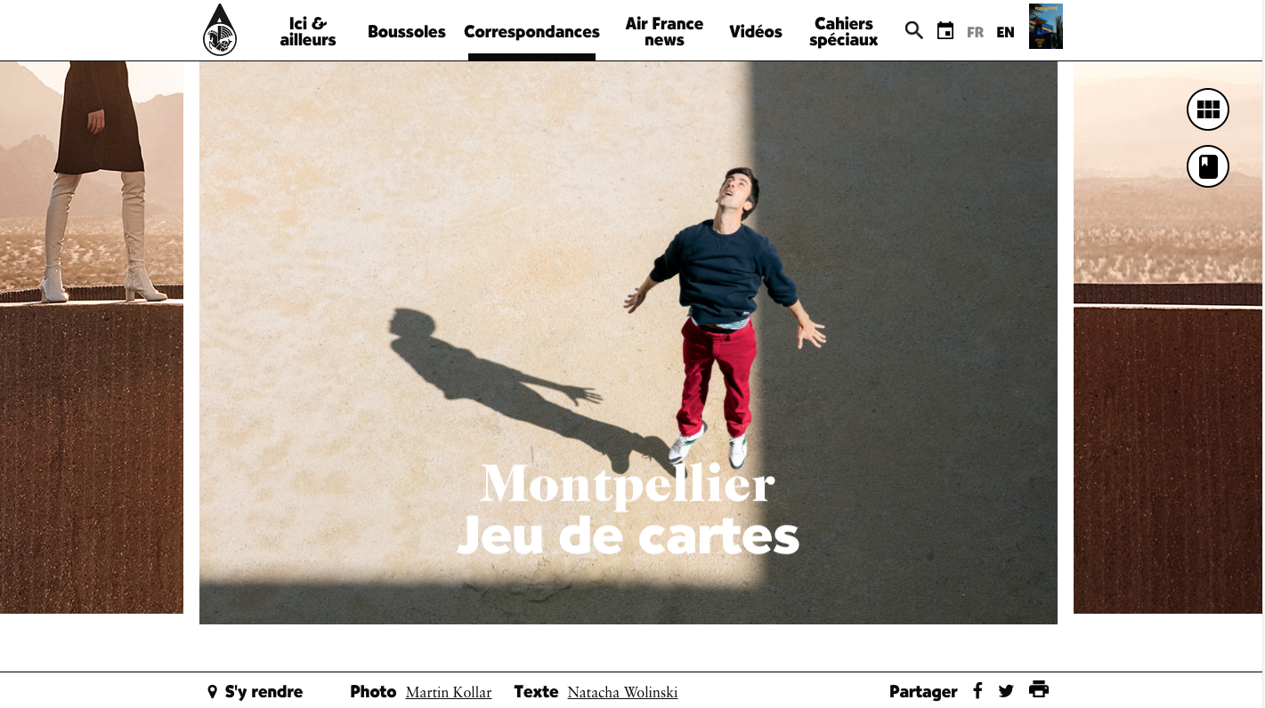 Magazine Air France, article montpellier