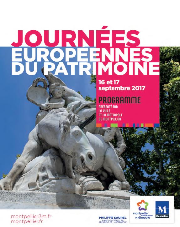 Couverture journées du patrimoine 2017 Montpellier